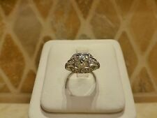 Antique Art Deco platinum 1.25ct old mine cut diamond VS engagement ring square