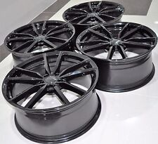 "19"" 2016 GOLF 7 STYLE BLACK WHEELS RIMS FIT VW GOLF GTI JETTA PASSAT CC EOS 5487"