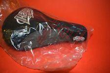 Haro backtrail seat saddle 2001 grey/black white logo cotton Mid school bmx NIB