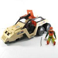 "GI JOE 3 3/4"" 1988 Desert Fox 6 WD Vehicle & Skidmark Figure Incomplete 3.75"""