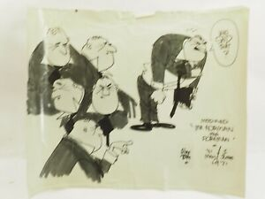 Alex Toth cartoonist illustrator Mr.Forman the Foreman May 31,1971