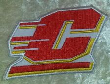 "Central Michigan Chippewas 3"" Iron On Embroidered Patch ~FREE Ship!!"