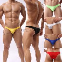 Men's 5-Pack Bikini Brief Underwear Guy Comfy Skimpy Briefs Half Coverage Shorts