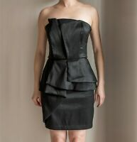 *AS NEW* Black Strapless Peplum Cocktail Dress – Size S