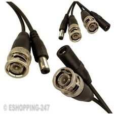 20METER CCTV BNC VIDEO AND DC POWER SUPPLY CAMERA CABLE BLACK NEW K120