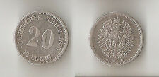 GERMANY 20 pfennig 1875 D