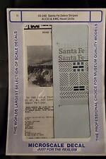 Santa Fe Zebra Stripes ALCO & EMC Hood Units N Scale