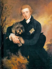 Oil painting thomas gainsborough - Henry Duke of Peck III young man with dog art