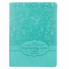 """Turquoise """"Everlasting Love"""" Flexcover Journal  Jeremiah 31:3 by Christian Arts"""