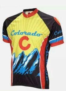 New Colorado Cycling Jersey World Jerseys Men's Short Sleeve Size Large