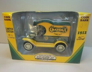 CRAYOLA DELIVERY CAR COIN BANK LIMITED EDITION #3 IN A SERIES 1912 FORD