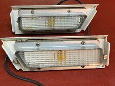 1969 FORD GALAXIE 500 LTD XL RH LH FRONT FENDER MARKER LIGHT ASSEMBLIES