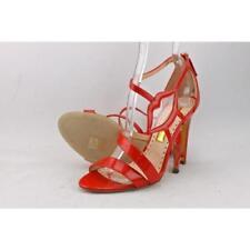 Sandalias y chanclas de mujer de tacón alto (más que 7,5 cm) de color principal rojo de charol