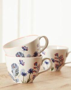 BNIB Set of 3 Joules Stoneware Floral Mugs