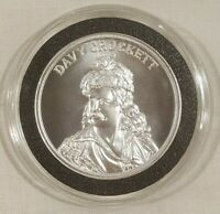 2oz Davy Crockett King of the Wild Frontier Silver Round Coin Wild West Ledgends