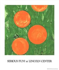 DONALD SULTAN 'Four Oranges', 1993 Limited Edition SILKSCREEN Poster **NEW**