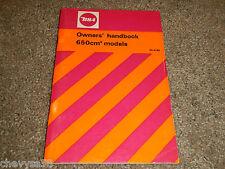 1972-1973 72 73 BSA 650 LIGHTNING FIREBIRD SCRAMBLER OWNER OWNER'S OWNERS MANUAL