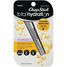 3 Pack ChapStick Total Hydration Vitamin Lip Oil, Sweet Nectar, 0.23 Oz Each