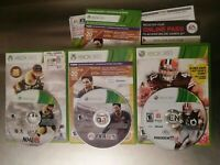 Xbox 360 Microsoft video sport game Lot MADDEN 12 FIFA 14 NFL 15 complete tested