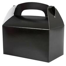 12 BLACK COLOR TREAT BOXES Birthday Party Loot Goody Bags #AA88 FREE SHIPPING