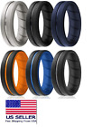 6 Pack Silicone Wedding Engagement Ring Men Women Rubber Band Flexible Size 12