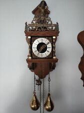 Dutch WUBA Warmink ZAANSE ZAANDAM Wall Pendulum Clock