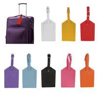 Étiquette De Bagage Valise De Voyage En PU Cuir D'identification