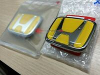 Honda S2000 Yellow Front & Rear Emblem Badge AP1 AP2 Genuine 75700-S2A-000ZF