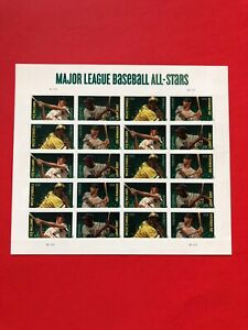 U.S MLB All Stars Postage Stamp Sheet