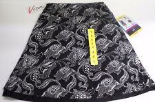 NEW Tranquility Reversible Black Blooms Skirt Size Small