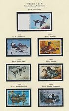 WISCONSIN HUNTING PERMIT STAMPS 1978-1999 CV $315 BS6412
