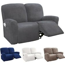 Suede Fabric Recliner Chair Cover Armchair Sofa Slipcover Relax Couch Protector