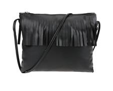 Handtasche klein Cowgirl schwarz PU Leder grau braun Tasche Fransen Damen Style