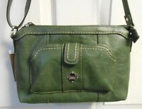 NWT BOC Born Concept Purse Bag Messenger Olive Green BEAUTIFUL Multiple Pockets