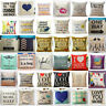 Square Home Decorative Throw Cotton Linen Pillow Case Sofa Waist Cushion Cover