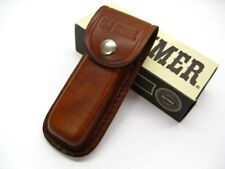 Schrade Brown Leather LS2 Belt Pouch Sheath For Folding Knife Tool Up To 5""
