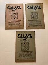 Lot Vintage Caissa Revista Argentina De Ajedrez Spanish Chess Books 1946 1948