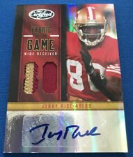 Jerry Rice 2012 Certified 'Fabric of the Game' Autograph Prime Patch # 12/15