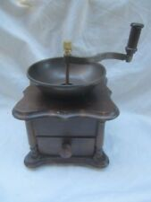 VTG Old Fashion Wood Pepper Mill Grinder Hand Crank W/ Drawer, Excellent Cond.