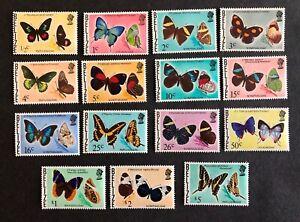 Belize #345-359 Butterflies1974-77 MNH