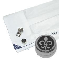 Fleur de Lys Design Cuff Button Covers