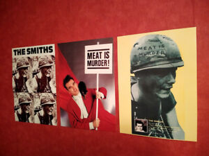 THE SMITHS MORRISSEY A3 POSTER PRINTS ARTWORK MEAT IS MURDER 3 SET