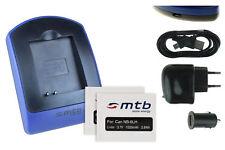2x Baterìas + USB Cargador NB-6L para Canon PowerShot SD980 IS, SD1200 IS