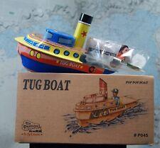 Barca Vapore Pop - Steam Boat Boot Metallo Litografata Mordere Rimorchiatore