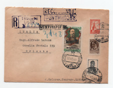 RUSSIA/LITHUANIA TAURAGE 15/4/1958 REGISTRED COVER TO TRIESTE