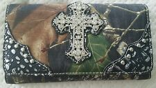 Mossy Oak Cross Trifold Wallet and Checkbook Cover