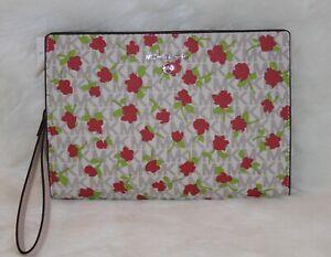 💚 Michael Kors Purse Signature Travel Wristlet Pouch Clutch Floral Handbag NWT