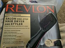 Revlon Pro Collection Salon One-Step Hair Dryer and Styler Pink Paddle Brush