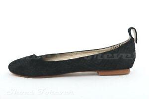 Matt Bernson Womens Black Suede Slip On Ballet Flats Casual Shoes Size 7