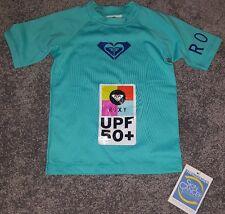New ROXY Whole Hearted toddler 2T Rashguard shirt 50+ UPF surf top pool blue